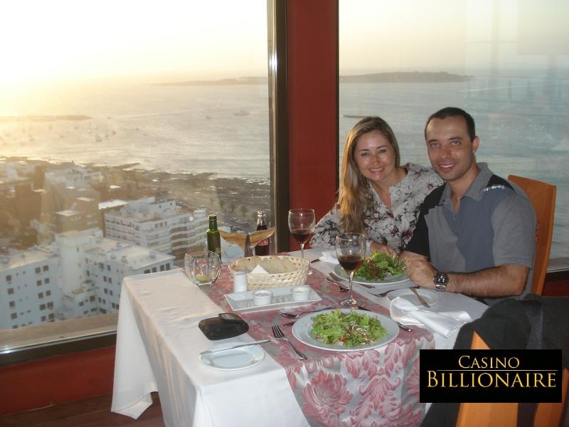Punta del Este - La Vista Restaurant - overlooking the ocean on the 20th floor
